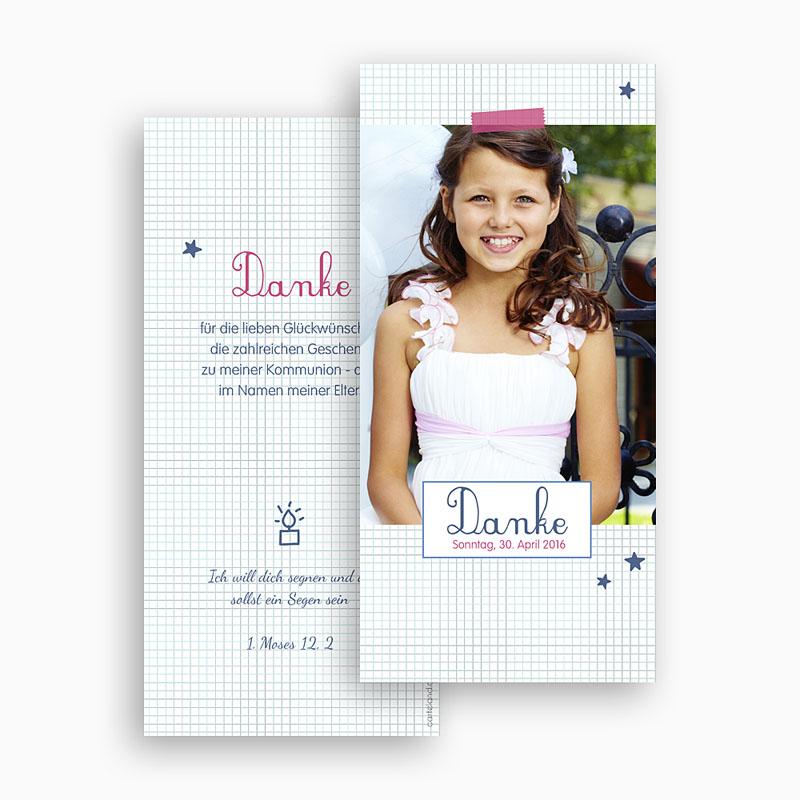 Dankeskarten Kommunion Mädchen - Hannah 45923 thumb