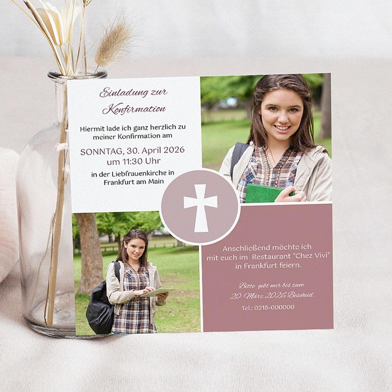 Einladungskarten Konfirmation - Engagement 45933 thumb
