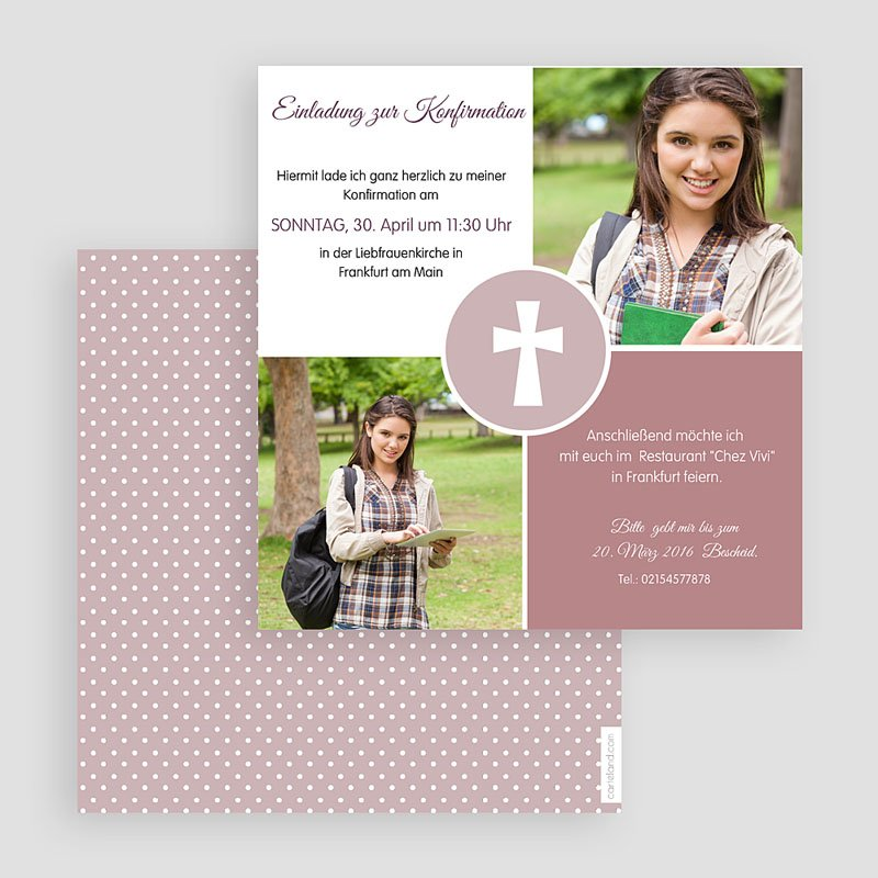 Einladungskarten Konfirmation - Engagement 45935 thumb