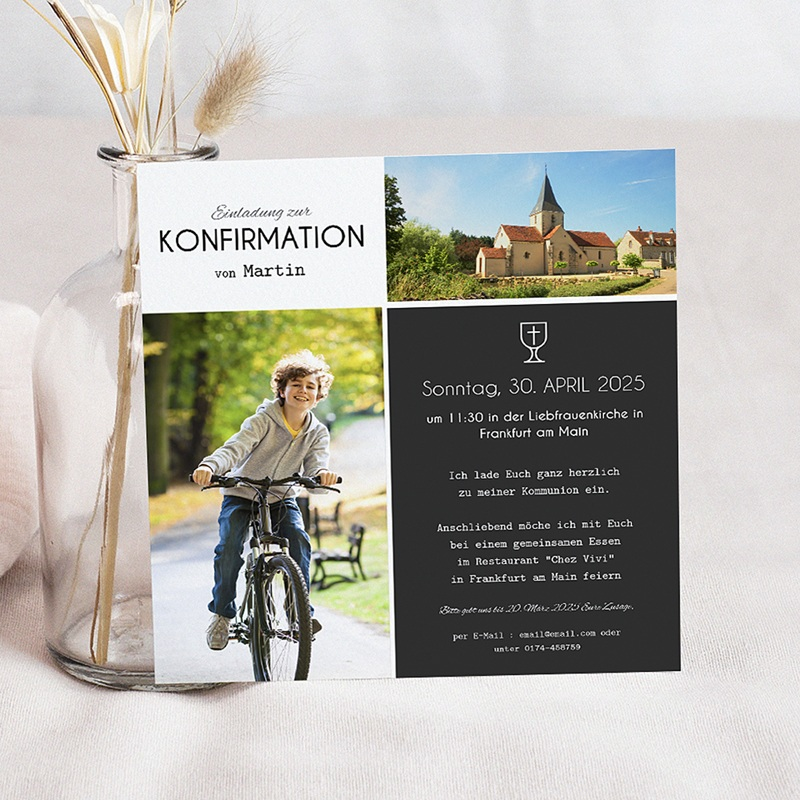 Einladungskarten Konfirmation Heiliger Kelch