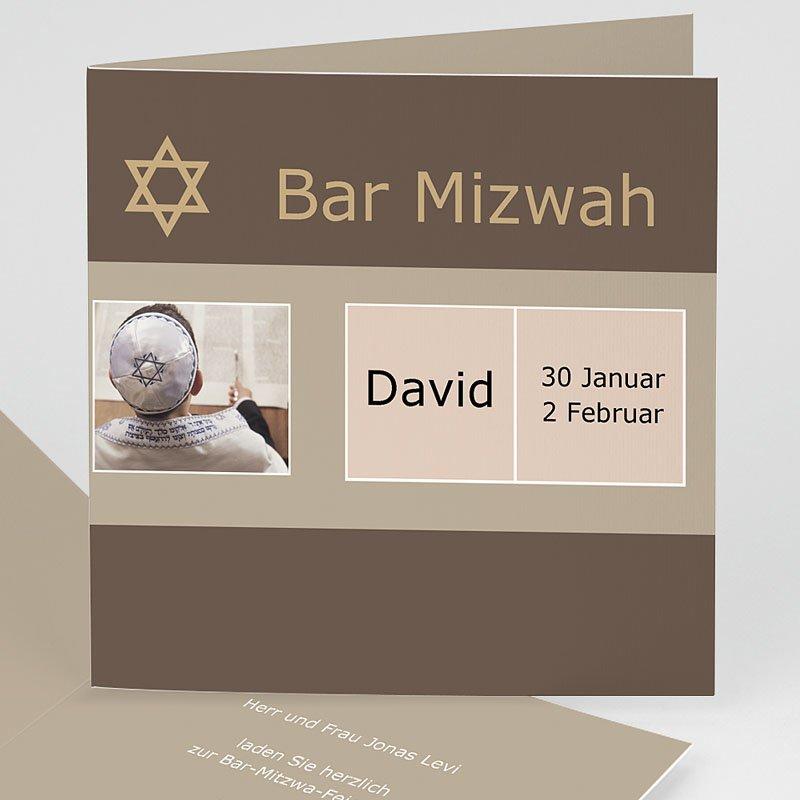 Einladungskarten Bar Mitzwah Jakob