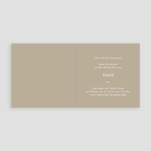 Bar Mitzwah Einladung - Jakob 4595 test