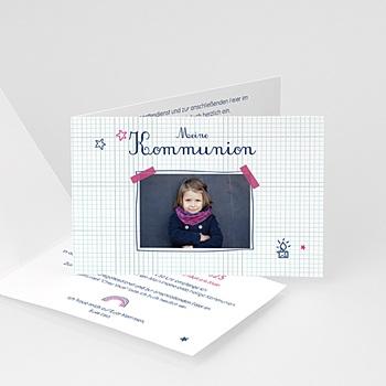Einladungskarten Kommunion Mädchen Eucharistie
