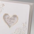 Hochzeitseinladungen traditionell - Herz und Spitze 45974 thumb