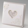 Hochzeitseinladungen traditionell - Herz und Spitze 45975 thumb