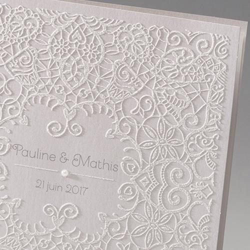Hochzeitseinladungen traditionell - Spitze romantisch 45978 preview