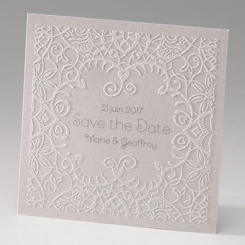 Hochzeitseinladungen traditionell - Verzierung blumig 45984