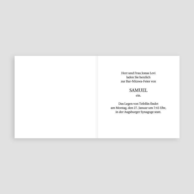 Einladungskarten Bar Mitzwah Kippa pas cher