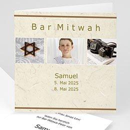 Bar Mitzwah Einladung - Karte - 1