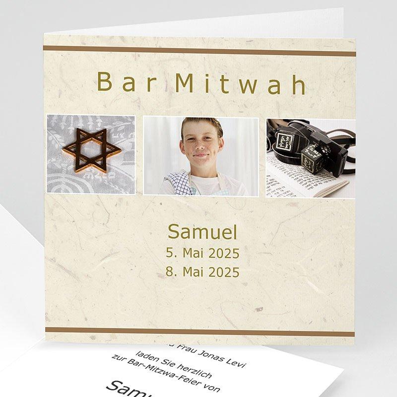 Einladungskarten Bar Mitzwah Aaron
