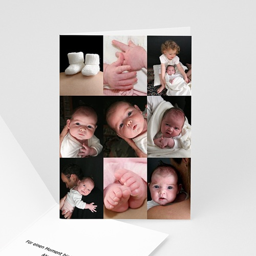Geburtskarten für Mädchen - Detailaufnahmen 4626