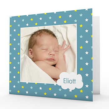 Geburtskarten für Jungen - Sous une bonne étoile - 0
