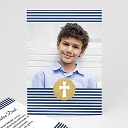 Danksagungskarten Confirmation Kreuz gestreift