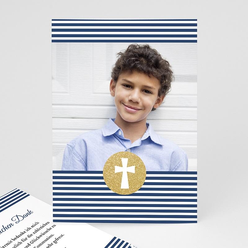 Danksagungskarten Konfirmation - Kreuz gestreift 46542 thumb