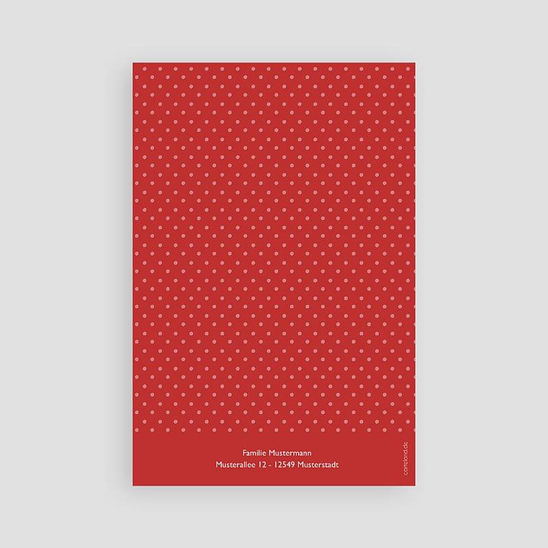 Dankeskarten Kommunion Mädchen True Red pas cher