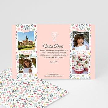 Dankeskarten Kommunion Mädchen Liberty Romantik