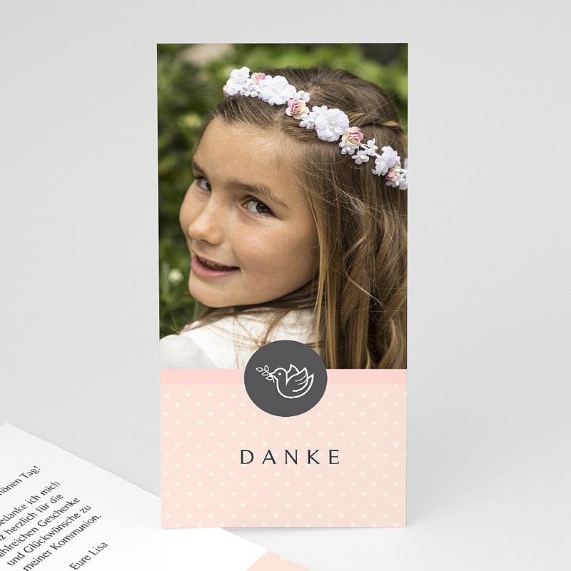 Dankeskarten Kommunion Mädchen - Kleine Taube 46596 thumb