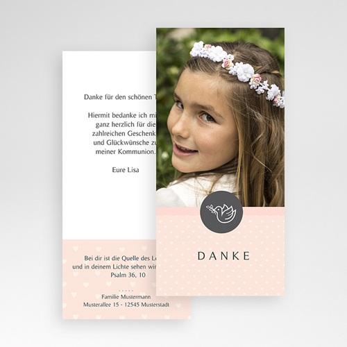 Dankeskarten Kommunion Mädchen - Kleine Taube 46597 test