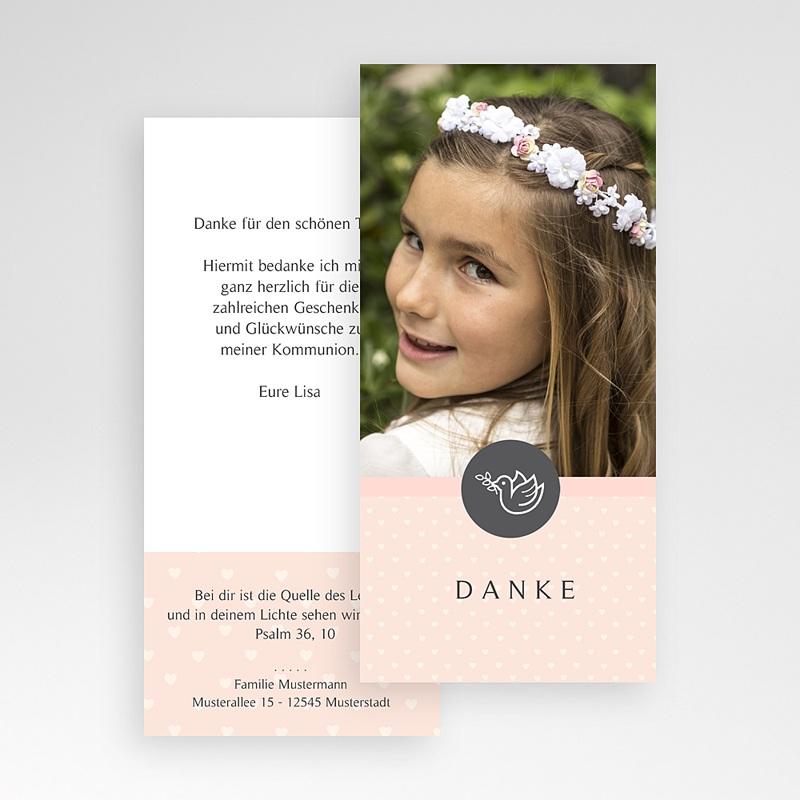 Dankeskarten Kommunion Mädchen - Kleine Taube 46597 thumb