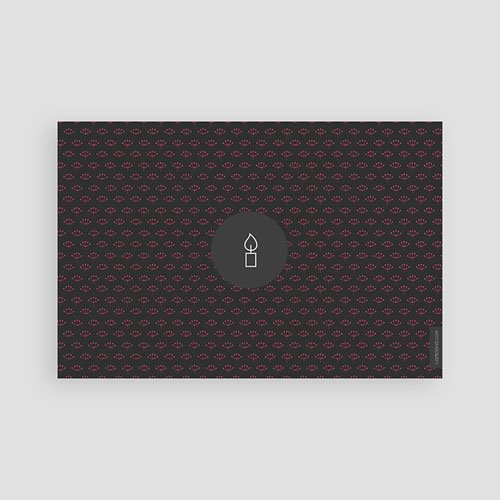 Danksagungskarten Konfirmation - Kerze 46606 preview