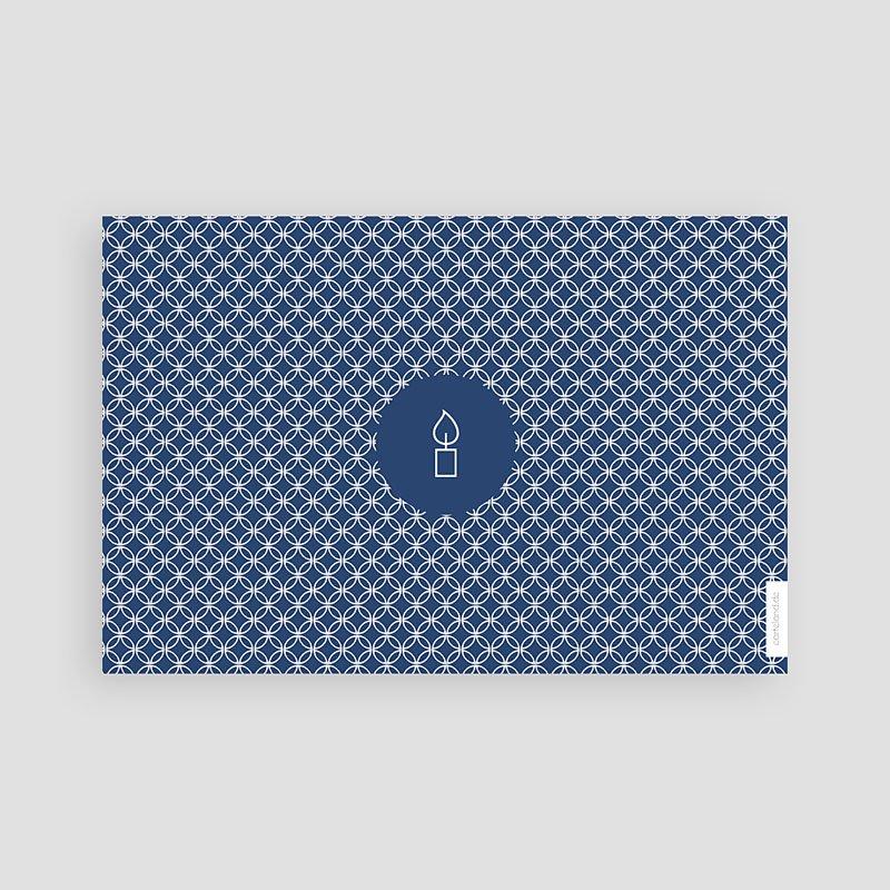 Danksagungskarten Konfirmation - Tiefes Blau 46621 thumb