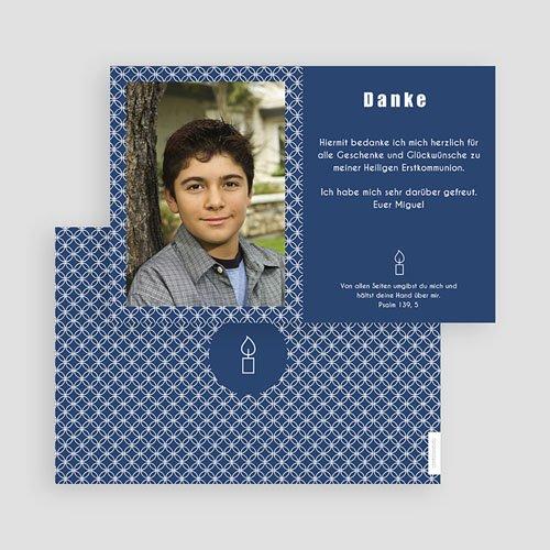Danksagungskarten Konfirmation Tiefes Blau gratuit