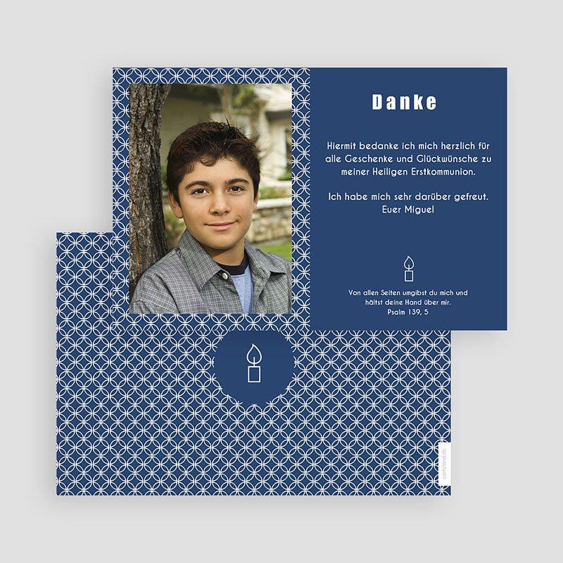 Danksagungskarten Konfirmation - Tiefes Blau 46622 thumb