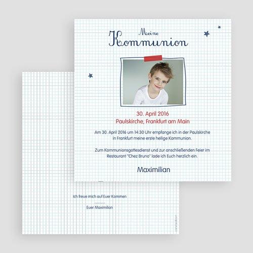 Einladungskarten Kommunion Jungen - Karos 46655 preview