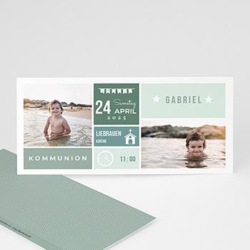 Einladungskarten Kommunion Jungen - Ehrentag - 0