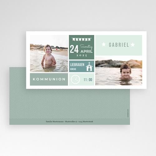 Einladungskarten Kommunion fur Jungen Ehrentag pas cher