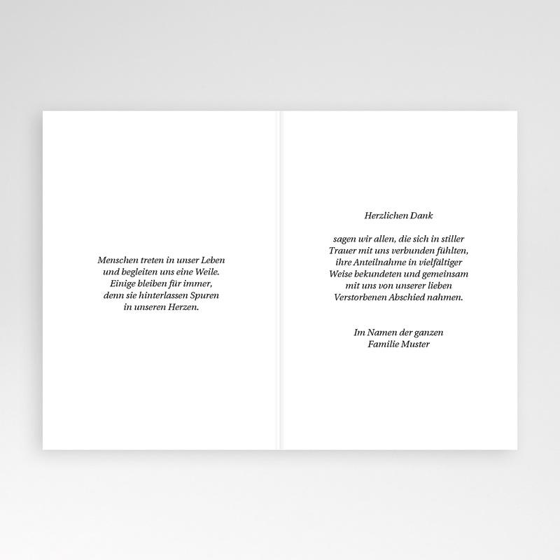 Christlich Dankeskarten Trauer Schwarzer Trauerrand pas cher