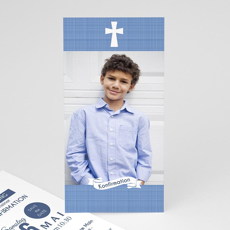Einladungskarten Konfirmation - Pastellblau 46677 thumb