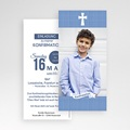 Einladungskarten Konfirmation - Pastellblau 46678 test