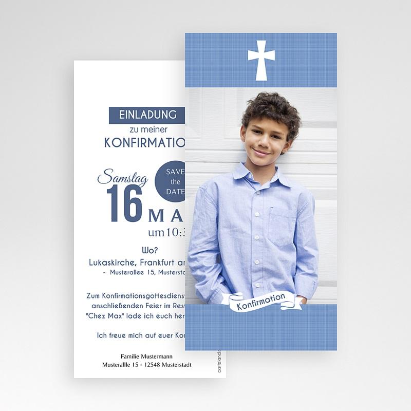 Einladungskarten Konfirmation - Pastellblau 46678 thumb