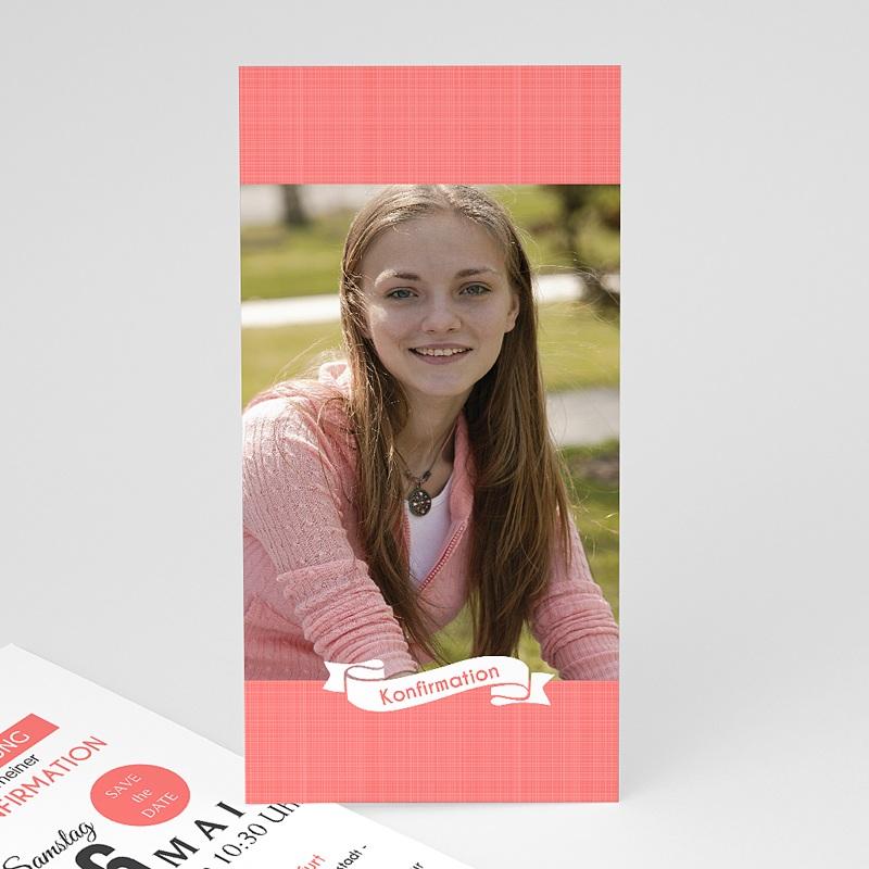 Einladungskarten Konfirmation - Romantisch verspielt 46686 thumb