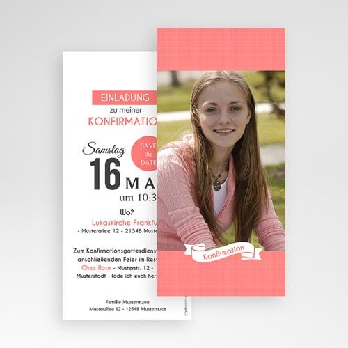 Einladungskarten Konfirmation - Romantisch verspielt 46687 preview