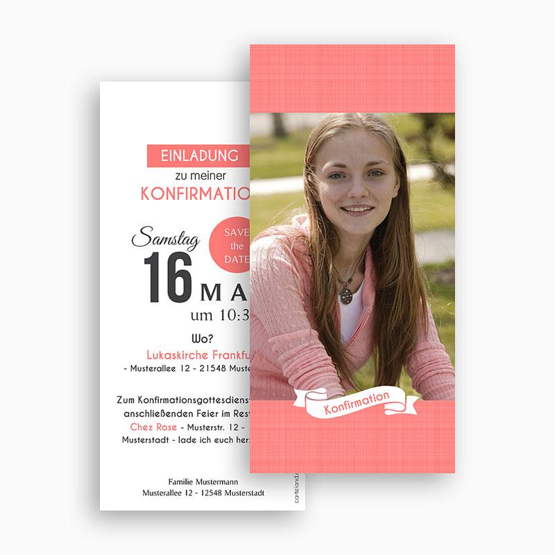 Einladungskarten Konfirmation - Romantisch verspielt 46688 thumb