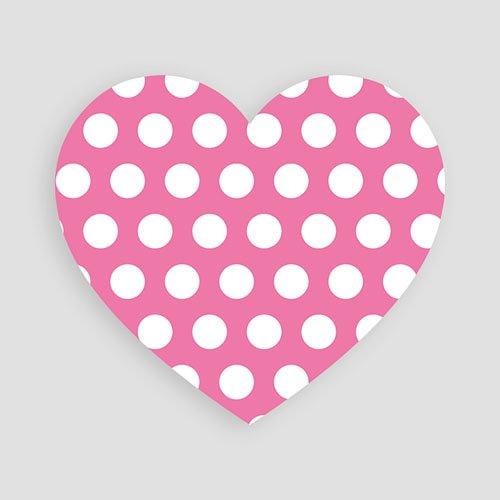 Dankeskarten Geburt Mädchen - Kleines Herz 46804 thumb