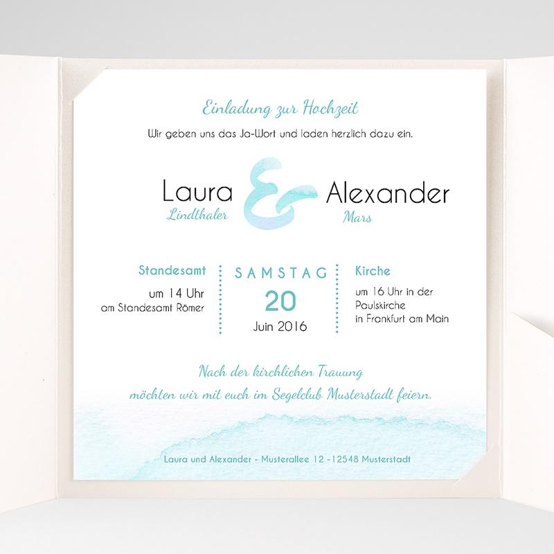 Hochzeitskarten Quadratisch Aquae pas cher
