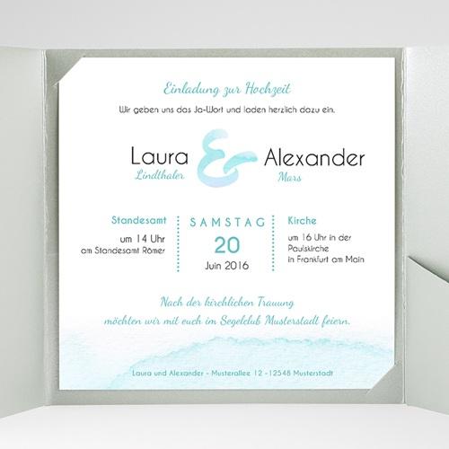 Hochzeitskarten Quadratisch Aquae gratuit