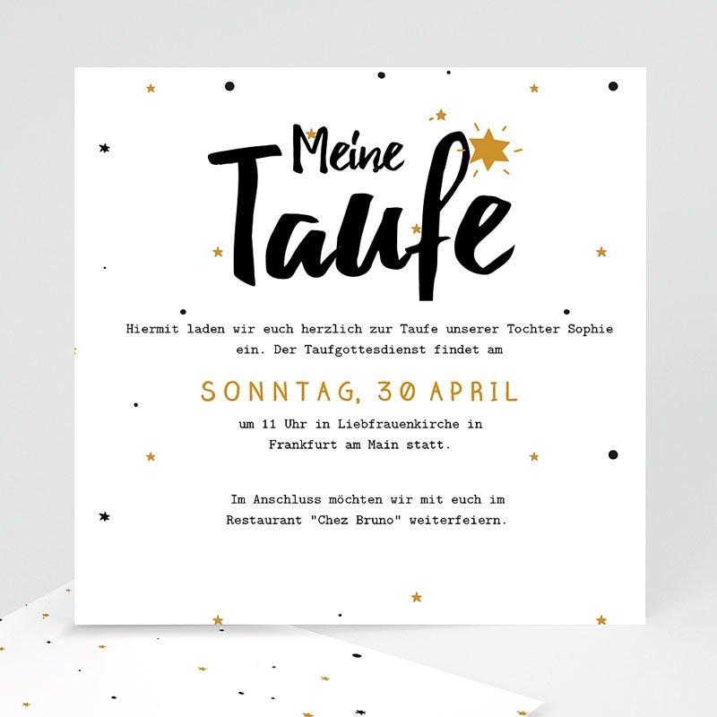 Einladungskarten Taufe Jungen  - Glücksstern 46897 thumb