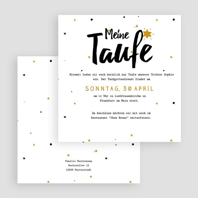 Einladungskarten Taufe Jungen  - Glücksstern 46899 thumb