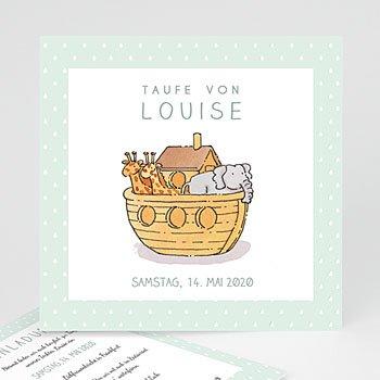 Einladungskarten Taufe Mädchen - Arche Noah - 0