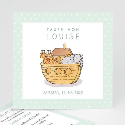 Einladungskarten Taufe Mädchen - Arche Noah 46906