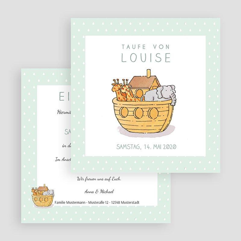 ... Einladungskarten Taufe Mädchen   Arche Noah 46908 Thumb