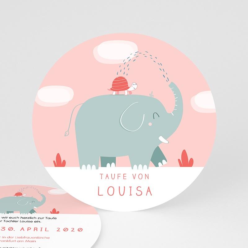 Einladungskarten Taufe Mädchen - Taufe Elefant 46915 thumb
