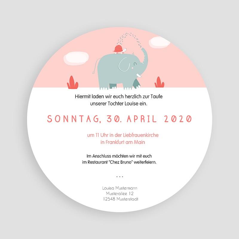 ... Einladungskarten Taufe Mädchen   Taufe Elefant 46916 Thumb ...