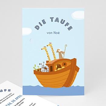 Einladungskarten Taufe Jungen  - Noe - 0