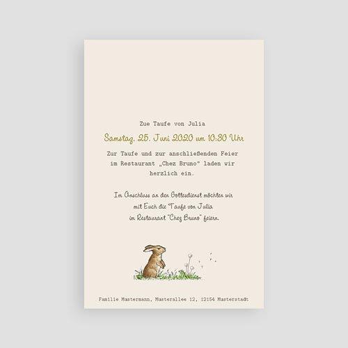 Einladungskarten Taufe Mädchen - Häschen 46931 preview