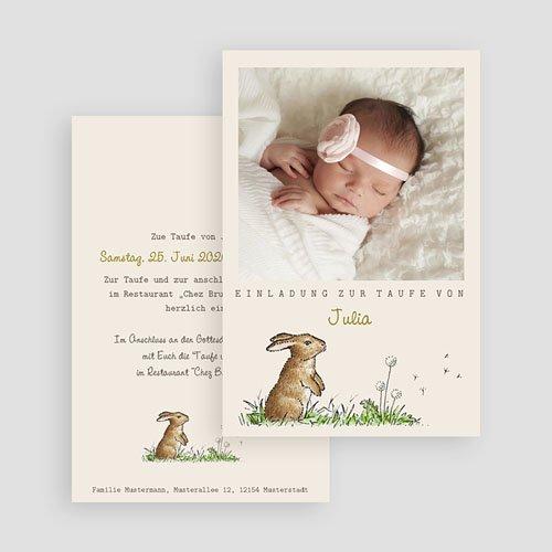 Einladungskarten Taufe Mädchen - Häschen 46932 preview